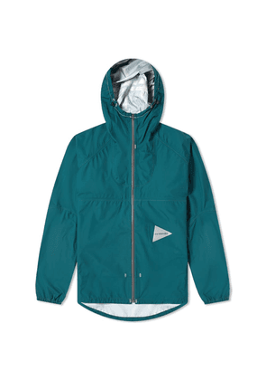 And Wander 3L Light Rain Jacket Green