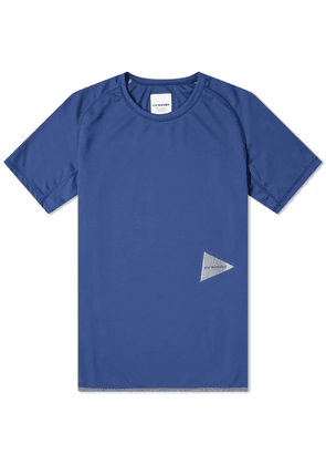 And Wander Dry Jersey Raglan Tee Blue
