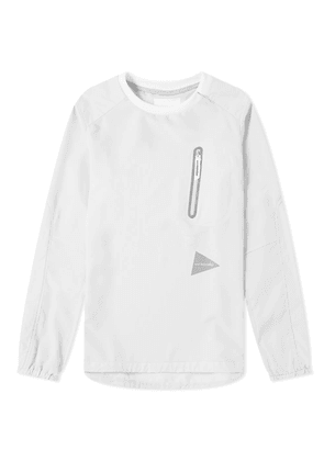 And Wander Vent Pullover Light Grey