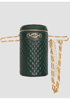 Gucci Quilted Leather Chain Bag in Green size S