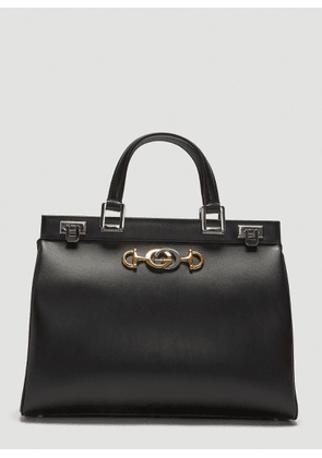 Gucci Zumi Top Handle Leather Bag in Black size One Size