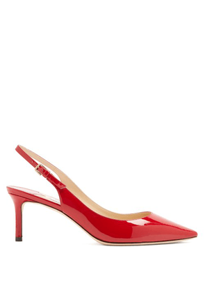 Jimmy Choo - Erin 60 Slingback Patent Leather Pumps - Womens - Red