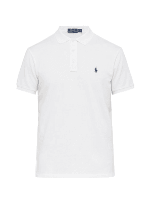 Polo Ralph Lauren - Logo Embroidered Cotton Jersey Polo Shirt - Mens - White