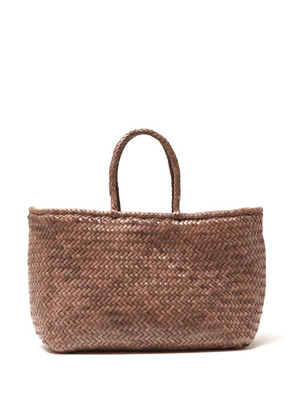 Dragon Diffusion - Grace Woven Leather Basket Bag - Womens - Grey