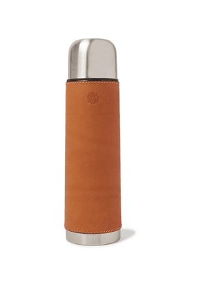 James Purdey & Sons - Leather And Steel Flask - Tan