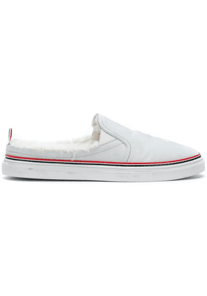 Thom Browne Shearling Lining Trainer Slide - White
