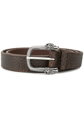Orciani dragon buckle detail belt - Brown