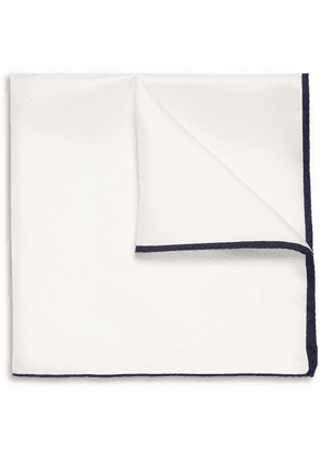 Drake's - Silk-twill Pocket Square - White