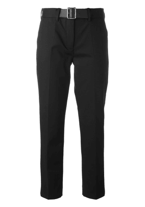 Moncler belted tailored trousers - Black