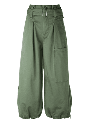 Marc Jacobs belted cargo culotte trousers - Green