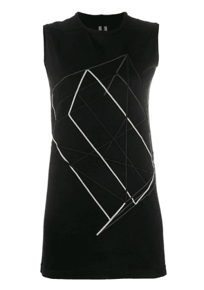 Rick Owens embroidered tank top - Black