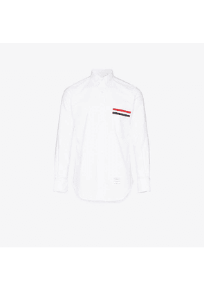 Thom Browne Grosgrain Pocket Trim Oxford Shirt