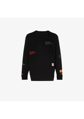 Heron Preston X Carhartt logo cotton long sleeve T-shirt