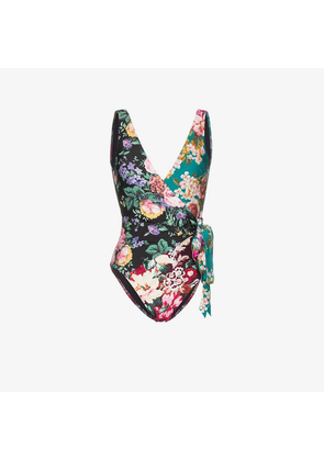 Zimmermann Allia floral print wrap swimsuit