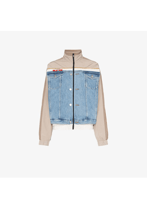 Martine Rose Hybrid Windbreaker Cotton Denim Jacket