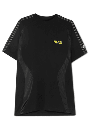 Adidas Originals By Alexander Wang - Striped Cotton-jersey T-shirt - Black