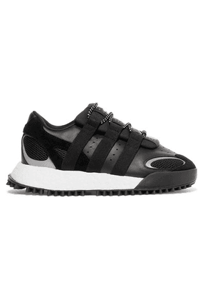 Adidas Originals By Alexander Wang - Wangbody Run Mesh, Suede And Leather Sneakers - Black