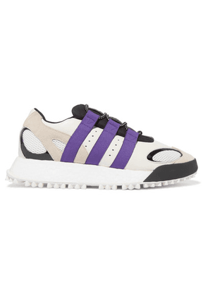 Adidas Originals By Alexander Wang - Wangbody Run Mesh, Suede And Leather Sneakers - Off-white