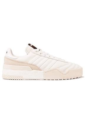 Adidas Originals By Alexander Wang - Bball Soccer Leather And Suede Sneakers - White