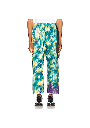 Craig Green Vibrating Floral Line Stitch Trousers in Abstract,Green