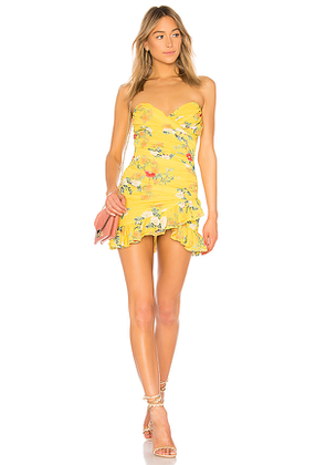 Lovers + Friends Casey Dress in Yellow. Size S,M,XL.