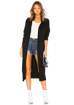 Lovers + Friends Cardigan With Banded Hem in Black. Size S,M.