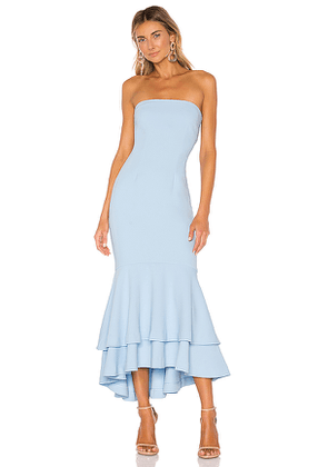 Lovers + Friends Dillion Midi in Baby Blue. Size S,M,XL.