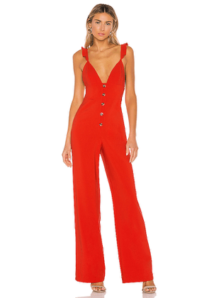 Lovers + Friends Elysian Jumpsuit in Red. Size S,M,L,XL.