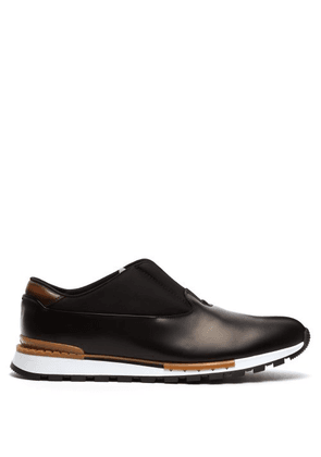 Berluti - Fast Track Torino Leather Trainers - Mens - Black