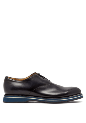 Berluti - Alessio Padova Leather Oxford Shoe - Mens - Navy