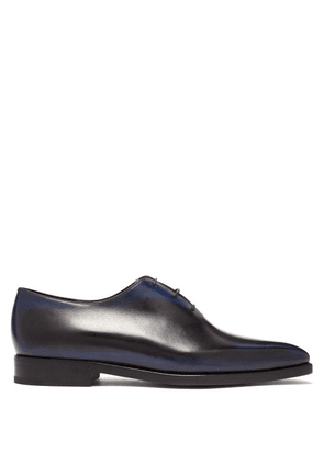 Berluti - Alessandro Demesure Leather Oxford Shoes - Mens - Blue