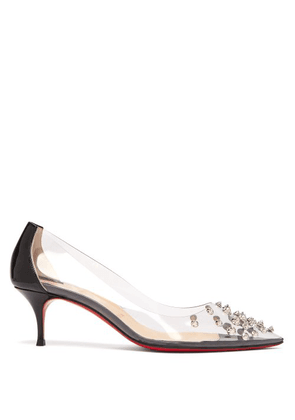 3ba8d2453e81 Christian Louboutin - Collaclou 55 Spike Studded Pvc Pumps - Womens - Black  Silver