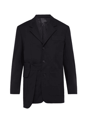 Wooyoungmi - Overlay Panelled Cotton Blazer - Mens - Black