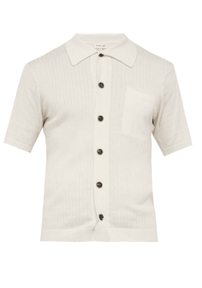 You As - Harvey Ribbed Cotton Blend Shirt - Mens - White
