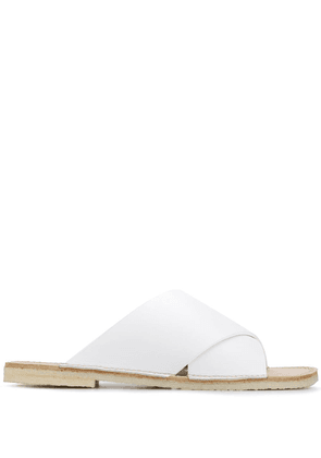 Flamingos Betty cross strap sandals - White