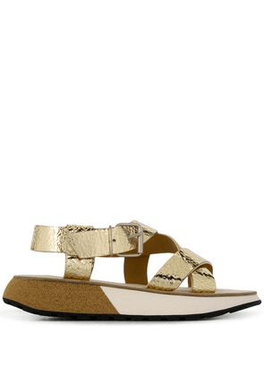 Flamingos Candy sandals - Gold
