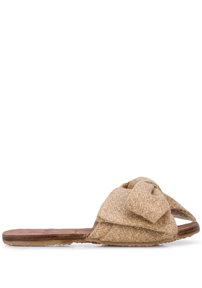 Brother Vellies Burkina Bow sandals - Brown