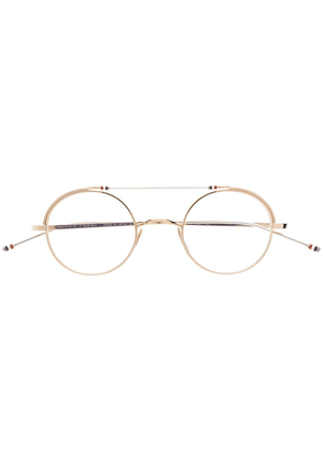 b84c5fbfad6a Thom Browne Eyewear round shaped glasses - Gold