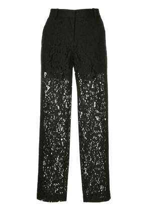 Robert Rodriguez Studio cropped lace trousers - Black