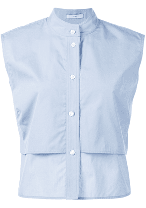 Tome sleeveless cropped shirt - Blue