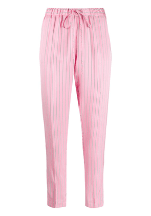 Ermanno Scervino striped drawstring trousers - Pink