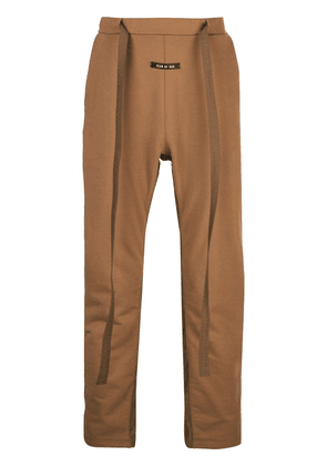 Fear Of God drawstring waist track pants - Brown