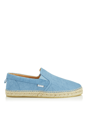 VLAD Wash Blue Broken Star Printed Nubuck Espadrilles