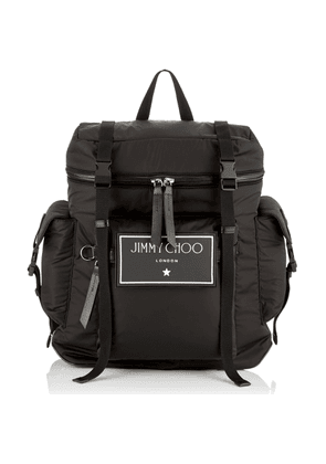 WIXON Black Soft Nylon and Satin Leather Backpack