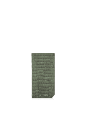 CLIFFORD Army Croc Printed Nubuck Long Bi Fold Wallet