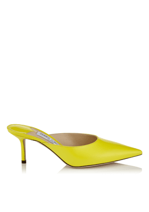 RAV 65 Fluorescent Yellow Liquid Leather Mule Pump
