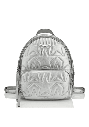 HELIA BACKPACK Anthracite Star Matelassé Metallic Nappa Leather Backpack