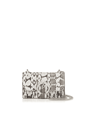 PARIS Natural Gloss Elaphe Mini Bag with Crystal Buckle
