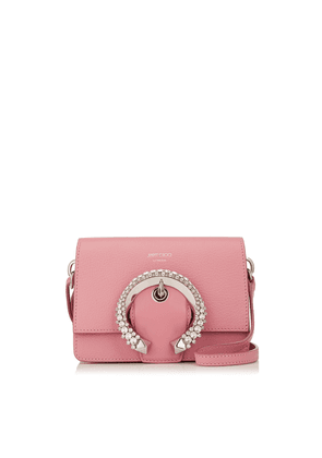 MADELINE SHOULDER BAG/S Candyfloss Calf Leather Shoulder Bag with Crystal Buckle