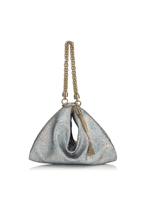CALLIE Multi Hologram Leather Clutch Bag with Chain Strap